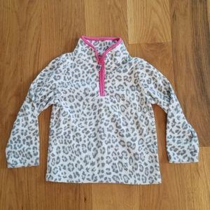 Carter's leopard 3/4 zip fleece jacket